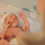 Baby gerade geboren