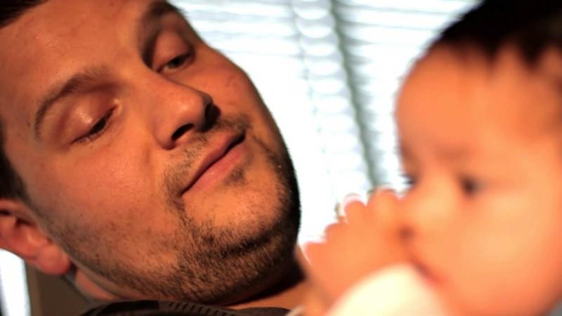 Basti mit Baby