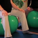 Gymnastik mit Pezziball