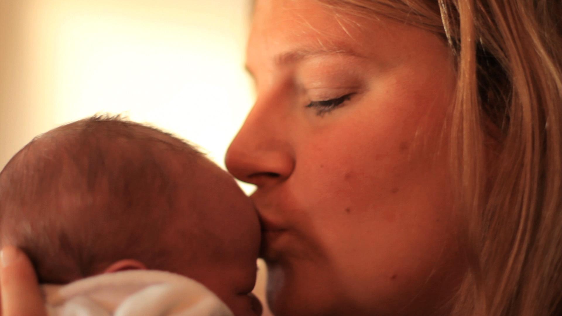 Baby nach der Geburt